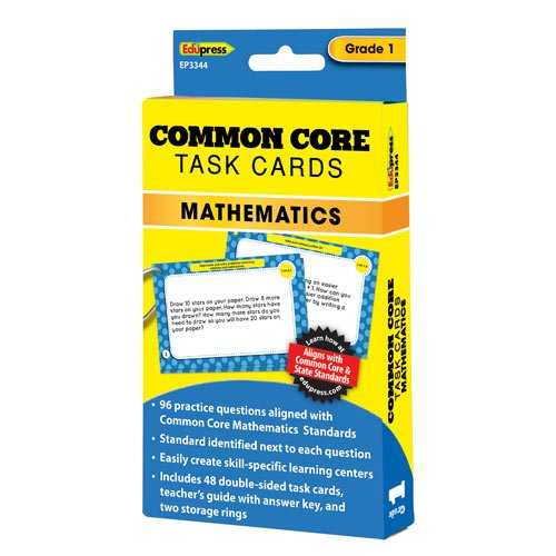 Edupress EP-3344 Common Core Math Task Cards Gr 1