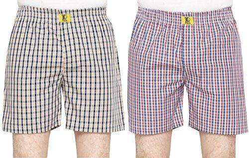 GlobalRang-Mens-Cotton-Checks-Boxer-Pack-Of-2