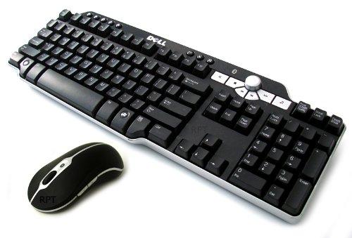 cheap price genuine dell bluetooth wireless multimedia black silver 104 keys keyboard mouse. Black Bedroom Furniture Sets. Home Design Ideas