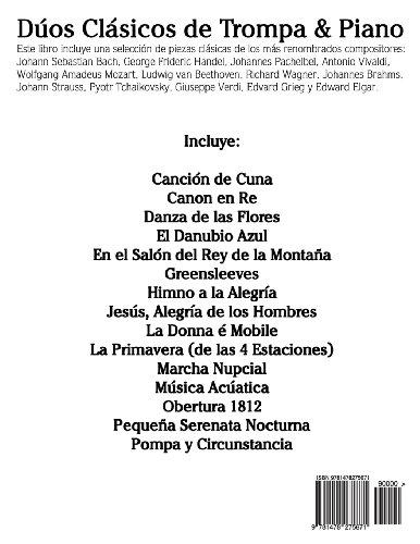 Dúos Clásicos de Trompa & Piano: Piezas fáciles de Bach, Strauss, Tchaikovsky y otros compositores