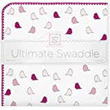 SwaddleDesigns Ultimate Receiving Blanket, Jewel Tone Little Chickies, Very Berry