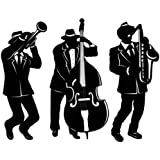 Jazz Trio Silhouettes Party Accessory (1 count) (3/Pkg)