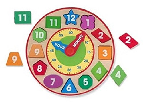 Melissa & Doug Classic Toy Wooden Shape Sorting Clock 8593 Brand New