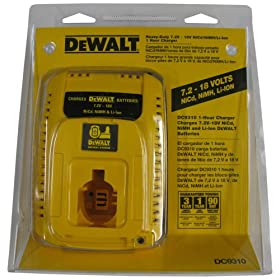 DeWalt DC9310 Heavy-Duty 7.2 Volt - 18 Volt 1 Hour Charger