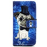 iPhone 6 Case, Flip Folio PU Leather Case [Card Holster] [Stand Feature] Wallet Shell with Magnetic Closure Slender Skin for Apple iPhone 6 (Gifts: 1x Stylus + 1x Screen Protector) -Dog