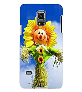ColourCraft Funny SunFlower Design Back Case Cover for SAMSUNG GALAXY S5 MINI