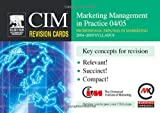 img - for CIM Revision Cards: Marketing Management in Practice 04/05 book / textbook / text book