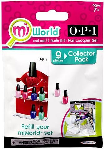 MiWorld Collector Pack OPI 9 Piece Nail Lacquer Set [1 Nail Lacquer Stand & 8... - 1