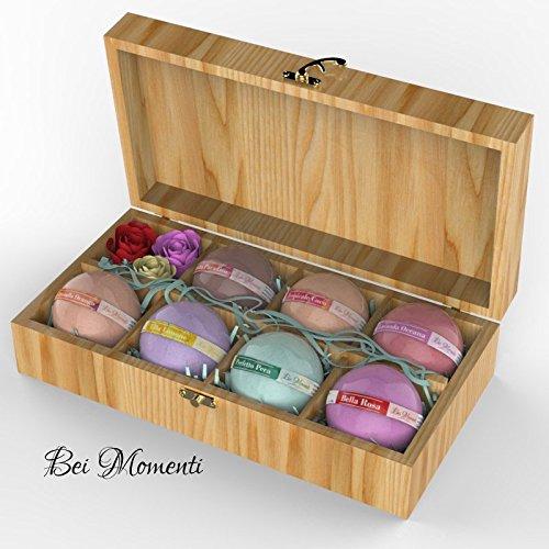 Bath bomb gift of 7 bei momenti bath bomb fizzies bubble - Bombe da bagno lush amazon ...