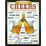 Cheers Around The World Beer Tin Sign
