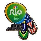 2016 NBC Rio Olympic Media Pin - USA & Brazil Flag Flip Flop Sandals