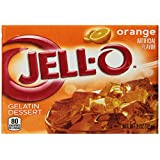 JELL-O Gelatin Dessert, Orange, 3-Ounce