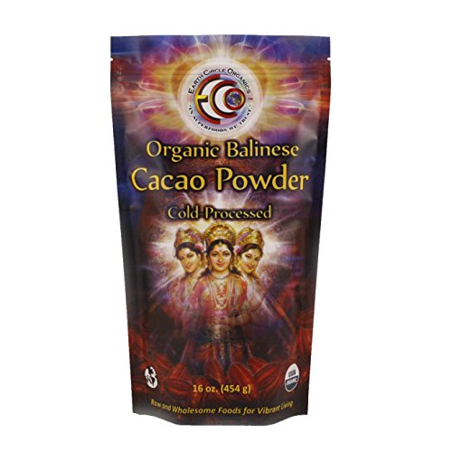 Earth Circle Organics Verified Raw Balinese Cacao Powder, 16-Ounce