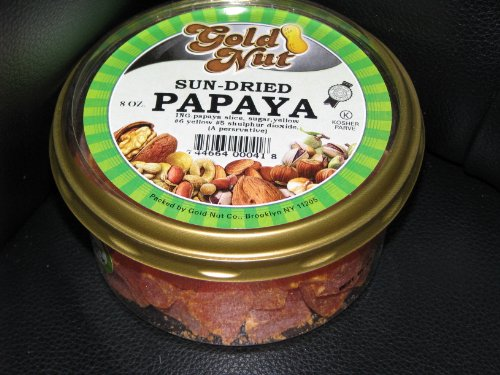 Kosher,gold Nut Sun Dried Papaya (8 Oz.)