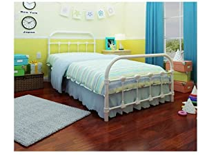 Rack Furniture Lindsay Twin Bed White from Rack Furniture