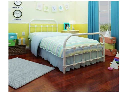 Rack furniture lindsay twin bed white best deals toys Best deal on twin mattress