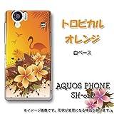 [docomo AQUOS PHONE SH-01D専用]特殊印刷カバー ハード携帯ケース[279トロピカルオレンジ]