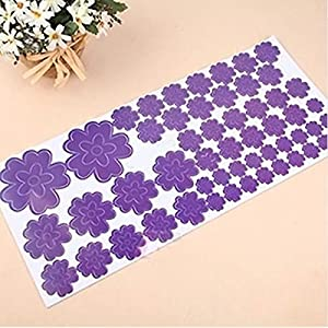 Great Value Wall Decor Lovely Multi-Colors 130 Flowers Wall Stickers Vinyl Art Decals Romantic Home Purple from Mzamzi