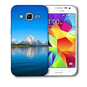 Snoogg Blue Water And White Mountain Printed Protective Phone Back Case Cover For Samsung Galaxy CORE PRIME