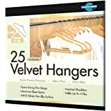 Closet Complete Ultra Thin No Slip Velvet Suit Hangers, Camel, Set of 25 ~ Closet Complete