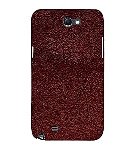 EPICCASE dark brown mud Mobile Back Case Cover For Samsung Galaxy Note 2 (Designer Case)