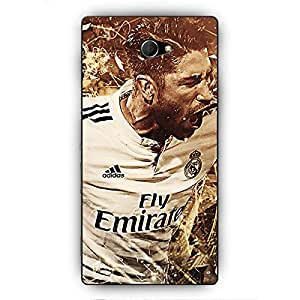 EYP Real Madrid Sergio Ramos Back Cover Case for Sony Xperia M2 Dual