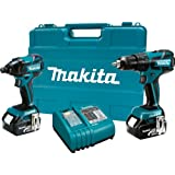 Makita LXT239 18-Volt LXT Lithium-Ion Brushless Cordless 2-Piece Combo Kit W/ 2 Batteries