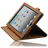 splash SAFARI Folio Case with stand for iPad 2, 3, 4 iPad 2nd, 3rd, 4th Gen Generation with Sleep / Wake Feature (BROWN) ~ Splash