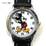 [ディズニー]Disney 腕時計 ミッキーマウス 革ベルト ブラック MKN005-1 レディース 【並行輸入品】