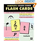 Complete Color Coded Flash Cards for All Beginning Music Students by Alfred Publishing