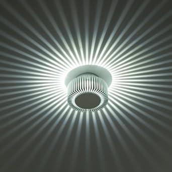 led wandlampe wandleuchte sonnenstrahler wand spot au en leuchte decken lampe stern effekt. Black Bedroom Furniture Sets. Home Design Ideas