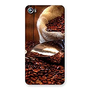 Special Coffee Beans Brown Back Case Cover for Micromax Canvas Fire 4 A107