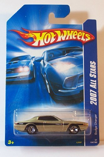 Hot Wheels 2007 All Stars Dodge Charger Gold #154/180 - 1