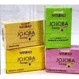 Hobe Naturals Jojoba Bar Soap, Sage, 4-Ounce (Pack of 3)