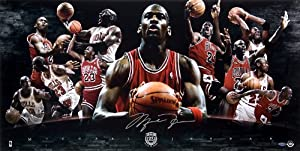 Michael Jordan Autographed Chicago Bulls 2009 Hall of Fame Collage 36x18 Photo -... by Upper Deck