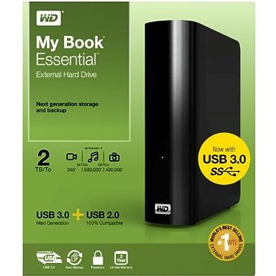 WD My Book Essential 2TB USB 3.0 External Hard Drive
