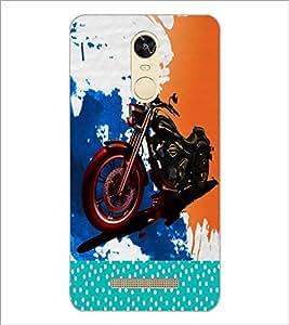 PrintDhaba Bike D-2823 Back Case Cover for XIAOMI REDMI NOTE 3 (Multi-Coloured)