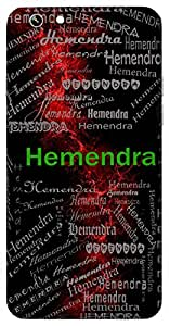 Hemendra (Lord Of Gold) Name & Sign Printed All over customize & Personalized!! Protective back cover for your Smart Phone : Samsung Galaxy Note-4