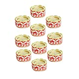 Kriti Creations Set Of 10 Traditional Wax Filled Clay Diyas - B0179B2M4E