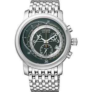 【クリックで詳細表示】[シチズン]CITIZEN 腕時計 COMPLICATION コンプリケーション Eco-Drive エコ・ドライブ クロノグラフ AT1160-53E メンズ