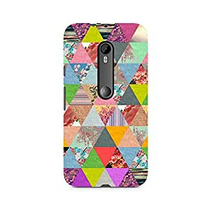Ebby Colorful Triangles Premium Printed Case For Moto X Style