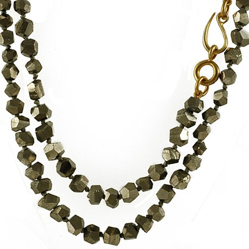 NAVA ZAHAVI- Long Pyrite Necklace