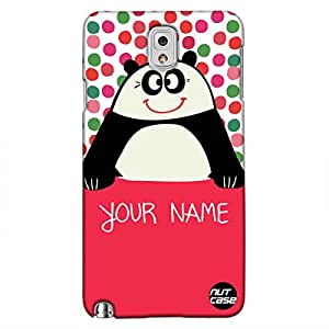Personalized Your Name Case - Samsung Note 3 Case Cover - Nutcase -Cute Panda Case - Personlised Gifts - Customized Mobile Covers