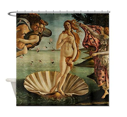"66""(W) X 72(L) Custom Botticelli Birth of Venus Tenda Da Doccia"