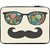 Snoogg Mustache Beach Life 12 To 12.6 Inch Laptop Netbook Notebook Slipcase Sleeve