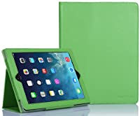 SUPCASE Apple iPad Air (iPad 5 5th Generation) Slim Fit Folio Leather Case (Green) - Support Auto Wake/Sleep, Elastic Hand Strap, Not Compatible with iPad 1/2/3/iPad Mini by SUPCASE