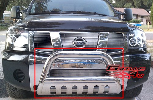 APS BB-NAK021S Chrome Bull Bar Bolt Over for select Nissan Armada Models (Nissan Armada Nerf Bars compare prices)