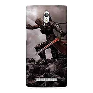 Cute Warrior Sword Multicolor Back Case Cover for Oppo Find 7
