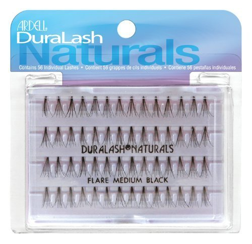 Ardell Duralash Natural Flare Medium Black 56 Individual Lashes by Ardell (English Manual)
