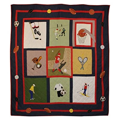 Patch Magic 65 by 85-Inch Play to Win Quilt, Twin
